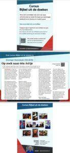 flyer cursus Bijbel uit de doeken in Groningen